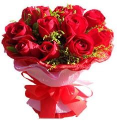 9 adet kirmizi güllerden kipkirmizi buket  Giresun çiçek yolla , çiçek gönder , çiçekçi