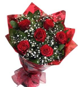 6 adet kırmızı gülden buket  Giresun çiçek siparişi vermek