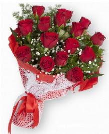 11 kırmızı gülden buket  Giresun internetten çiçek siparişi