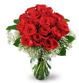 25 adet kırmızı gül cam vazoda  Giresun çiçek servisi , çiçekçi adresleri
