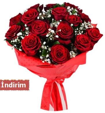 12 Adet kırmızı aşk gülleri  Giresun çiçek online çiçek siparişi