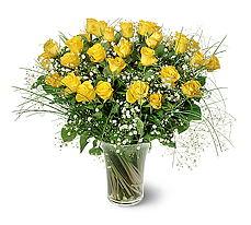 Giresun yurtiçi ve yurtdışı çiçek siparişi  15 adet sarigül mika yada cam vazoda