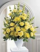 Giresun yurtiçi ve yurtdışı çiçek siparişi  sari güllerden sebboy tanzim çiçek siparisi