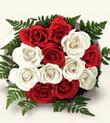 Giresun çiçek servisi , çiçekçi adresleri  10 adet kirmizi beyaz güller - anneler günü için ideal seçimdir -