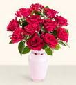 Giresun kaliteli taze ve ucuz çiçekler  10 kirmizi gül cam yada mika vazo tanzim