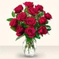 Giresun 14 şubat sevgililer günü çiçek  10 adet gül cam yada mika vazo da
