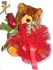 oyuncak ayi ve gül tanzim  Giresun çiçek yolla , çiçek gönder , çiçekçi