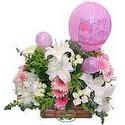 balon ve çiçeklerle tanzim  Giresun online çiçekçi , çiçek siparişi