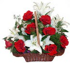sepette gül ve kazablankalar   Giresun güvenli kaliteli hızlı çiçek