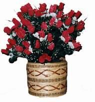 yapay kirmizi güller sepeti   Giresun çiçekçiler