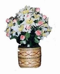 yapay karisik çiçek sepeti   Giresun çiçek siparişi sitesi