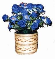 yapay mavi çiçek sepeti  Giresun çiçekçi telefonları