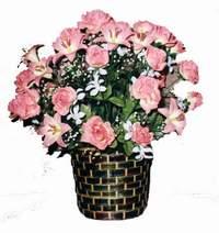 yapay karisik çiçek sepeti  Giresun çiçekçi mağazası