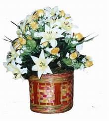 yapay karisik çiçek sepeti   Giresun çiçekçi telefonları