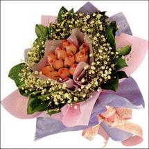 11  adet  gül ve   elyaflar   Giresun güvenli kaliteli hızlı çiçek