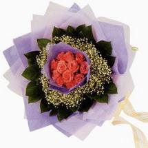 12 adet gül ve elyaflardan   Giresun güvenli kaliteli hızlı çiçek