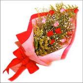 12 adet renkli  gül buketi   Giresun güvenli kaliteli hızlı çiçek
