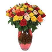 51 adet gül ve kaliteli vazo   Giresun uluslararası çiçek gönderme