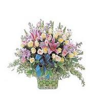 sepette kazablanka ve güller   Giresun anneler günü çiçek yolla