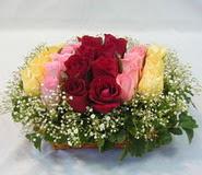 15 adet reprenkli gül sepeti   Giresun 14 şubat sevgililer günü çiçek