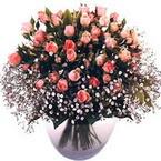 büyük cam fanusta güller   Giresun 14 şubat sevgililer günü çiçek