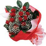 Giresun online çiçekçi , çiçek siparişi  KIRMIZI AMBALAJ BUKETINDE 12 ADET GÜL