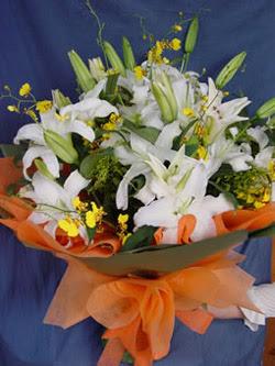 Giresun online çiçekçi , çiçek siparişi  5 ADET KAZABLANKA BUKETI KALITEDEN SASMAYANLARA