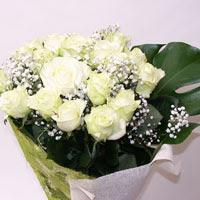 Giresun kaliteli taze ve ucuz çiçekler  11 adet sade beyaz gül buketi