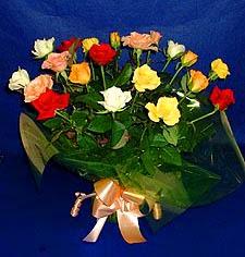 Giresun kaliteli taze ve ucuz çiçekler  13 adet karisik renkli güller