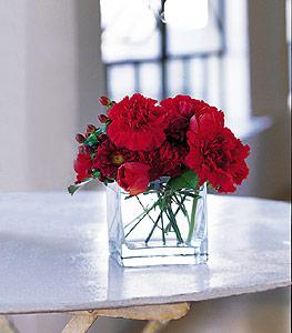 Giresun çiçek mağazası , çiçekçi adresleri  kirmizinin sihri cam içinde görsel sade çiçekler