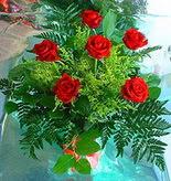 6 adet kirmizi gül buketi   Giresun çiçek yolla