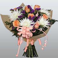 güller ve kir çiçekleri demeti   Giresun çiçek yolla , çiçek gönder , çiçekçi