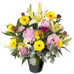 karisik mevsim çiçeklerinden vazo tanzimi  Giresun çiçek satışı