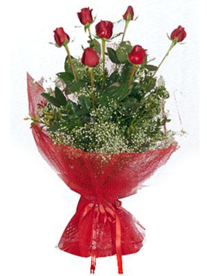 Giresun çiçek siparişi sitesi  7 adet gülden buket görsel sik sadelik