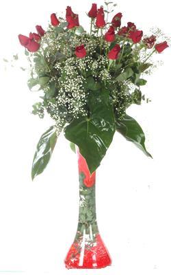 Giresun çiçek satışı  19 ADET GÜL VE FIL CAM AYAGI