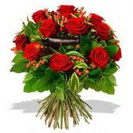 9 adet kirmizi gül ve kir çiçekleri  Giresun online çiçekçi , çiçek siparişi