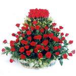 Giresun çiçekçiler  41 adet kirmizi gülden sepet tanzimi
