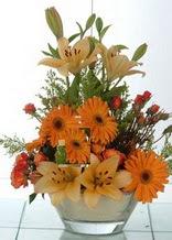 Giresun çiçek siparişi sitesi  cam yada mika vazo içinde karisik mevsim çiçekleri