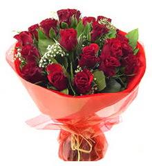 Giresun ucuz çiçek gönder  11 adet kimizi gülün ihtisami buket modeli