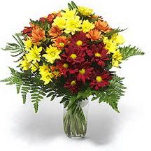 Giresun yurtiçi ve yurtdışı çiçek siparişi  Karisik çiçeklerden mevsim vazosu