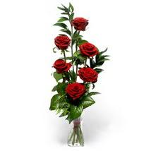 Giresun yurtiçi ve yurtdışı çiçek siparişi  cam yada mika vazo içerisinde 6 adet kirmizi gül