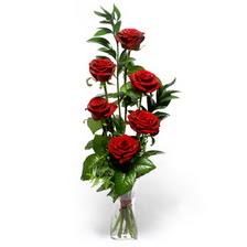 Giresun çiçek satışı  mika yada cam vazoda 6 adet essiz gül