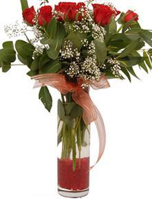 Giresun çiçek satışı  11 adet kirmizi gül vazo çiçegi