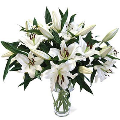 9 adet kazablanka çiçegi vazo çiçek demeti