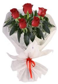 5 adet kirmizi gül buketi  Giresun çiçek yolla , çiçek gönder , çiçekçi