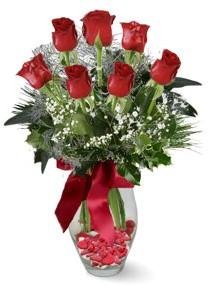 7 adet vazoda gül  Giresun online çiçekçi , çiçek siparişi  kirmizi gül