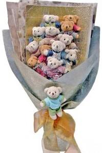 12 adet ayiciktan buket tanzimi  Giresun çiçek gönderme