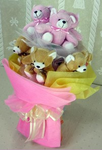 8 adet ayiciktan buket  Giresun çiçek gönderme