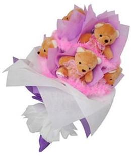 9 adet ayiciktan buket  Giresun hediye çiçek yolla