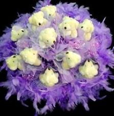 11 adet pelus ayicik buketi  Giresun çiçek servisi , çiçekçi adresleri